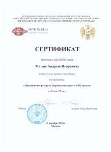 Сертификат SEO-школы
