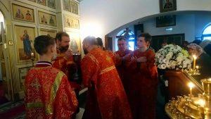 Божественная литургия в Сергиевской храме г. Красногорска